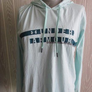 Under armour blue hooded shirt